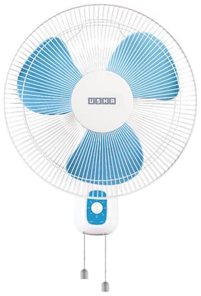 Usha Mist Air Duos 400 mm Decorative Wall Fan ( Blue , Pack of 1 )