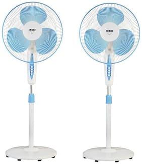 Usha Mist Air Icy 400 mm Economy Pedestal Fan ( Blue ,Pack of 2 )