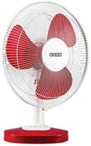 Usha Mist Air Duos 400 mm Standard Table Fan ( Red )