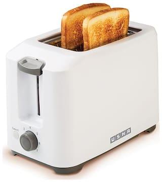 Usha PT-3720 2 Slices Pop-Up Toaster - White