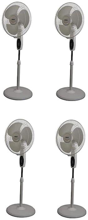 Usha Striker 400 mm Economy Pedestal Fan ( White ,Pack of 4 )