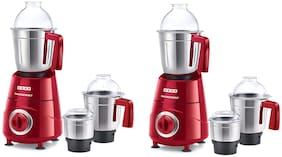 Usha TH800MX3 800 W Mixer Grinder ( Red ,Pack of 2 With 3 Jars )