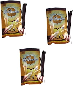 Utkarsh Premium (Set Of 3 Pkt) Sai Sandal/Chandan Pollution Free Dry Fresh Fragrance (100 Grams Each In Pkt) Incense Sticks/Agarbattis For Spiritual Purpose Worship/Puja And Mediation (300 Grams)