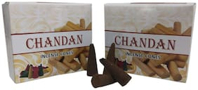 Utkarsh (Set Of 2 pc) Sandal/Chandan Fragrance Divine Dry Incense Dhoop Cone/Dhoopbatti For Spiritual Purpose Worship/Puja And Mediation