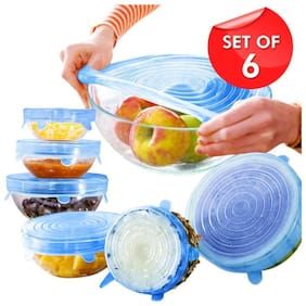 Vallaree Silicon Stretch lids for containers And Food Grade air Tight