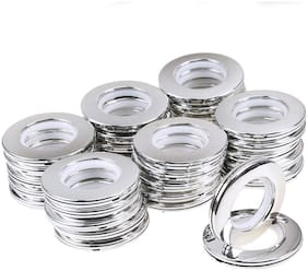 Valtellina 24 pcs Silver Curtain Eyelet Ring 41mm Diameter