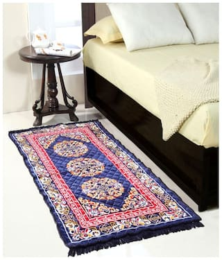 Valtellina Blue Colour Traditional Runner Mat