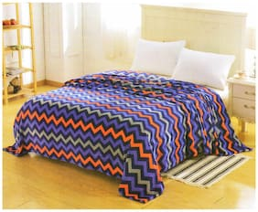 Valtellina Check Printed double bed ac blanket