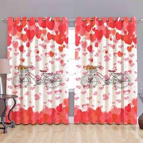 Valtellina Digital Printed Polyester Single Door curtain (4X7 feet)