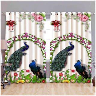 Valtellina Digital Printed Polyester Single Door curtain (4X7 ft)