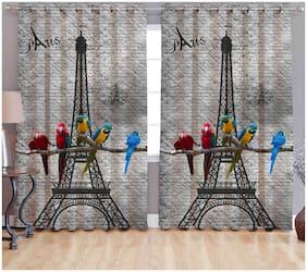 Valtellina Digital Printed Polyester 2 Door curtain (4X7 feet)