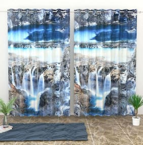 Valtellina Digital Printed Polyester Single Door curtain (4X7 feet)
