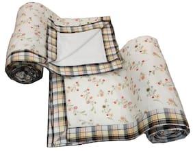 Valtellina Floral Print Single Bed Dohar Set of 2