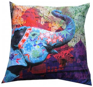 Valtellina India Nature Lover 3D Digital Cushion Cover - Pack of 1
