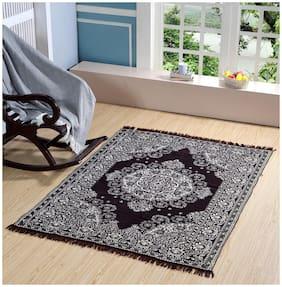 Valtellina Premium Brown Designed Chenille Carpet (74 inch X 54 inch)