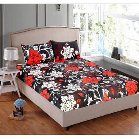 Valtellina Present Daily Used 3D Printed 1 Double bedsheet with 2 Pillow Covers