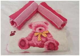Valtellina Teddy kids design towels 3pcs set 1 Bath & 2 Hand towel