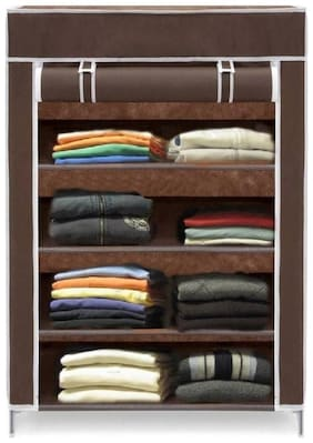 VALTIOR 4 LAYER HIGH BOND PLASTIC WARDROBE (BROWN) 005