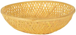 Vardhman Bamboo Fruit & Vegetable Basket,Size 6 inch x 6 inch, Set of 12