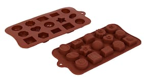 Vardhman Silicon Chocolate Mold,15 Cavities,Mix Designs Tray no 2