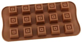 Vardhman Silicon Choclate Mold, Square Shape, 15 Cavities