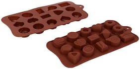 Vardhman Silicon Chocolate Mold,15 Cavities,Mix Designs Tray no 4