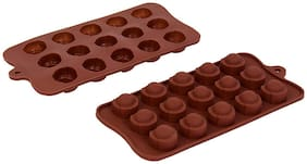 Vardhman Silicon Chocolate Mold,15 Cavities,semi Round Design