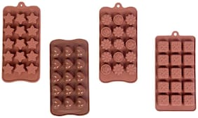 Vardhman Silicon Chocolate Mould, Set Of 4