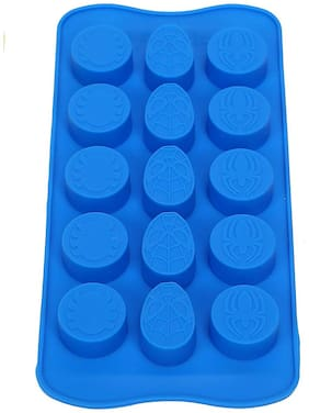 Vardhman Silicone Choclate Mold, Spider man design, 15 Cavities, Set of 1