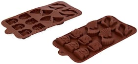 Vardhman Silicon Chocolate Mold,15 Cavities,Mix Designs Tray no 1
