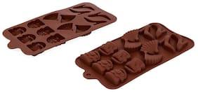 Vardhman Silicon Chocolate Mold,15 Cavities,Mix Designs Tray no 1