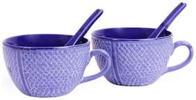 VarEesha Blue Studio Soup Bowls Set of Two