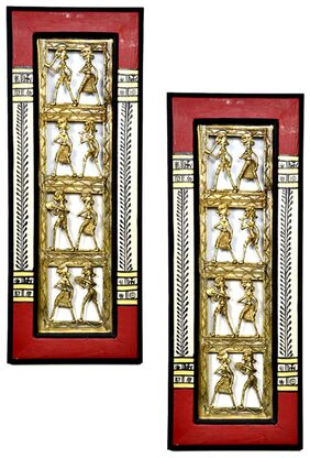 VarEesha Ethnic Dhokra Wall Decor Set-2 Pcs