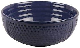 VarEesha Inky Blue Diamond 7 inch Ceramic Bowl