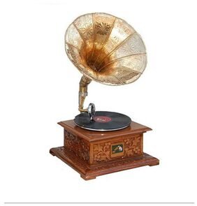 VAS Collection Home Wooden Gramophone  (Yes)