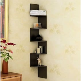 Wall shelves buy wall shelves and racks online at best for Wooden work on wall