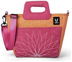 Vaya BentoBag Mini Insulated Lunch Bag for Women, Multipurpose Waterproof Lunch Bag with Adjustable Strap, Color: Zesty Orange