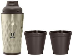 Vaya Thermosteel Flask Set of 1 ( Brown , Stainless Steel ,  350 ml )