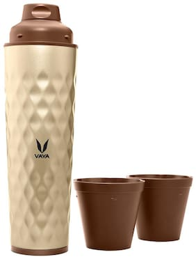 Vaya 600 ml Stainless Steel Golden Water Bottles - Set of 1