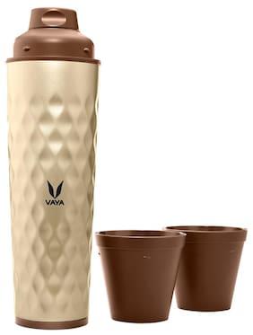 Vaya 600 ml Stainless steel Golden Water bottles - 1 pc