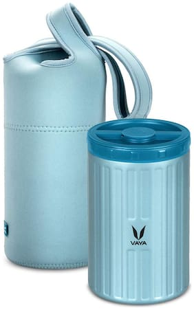 Vaya Preserve LunchKit - 700 ml (1 x 700 ml) Blue Vacuum Insulated Stainless Steel Meal Container with Blue Lunch Bag, Meal Carrier, Salad Box, Set of 1, Color - Blue