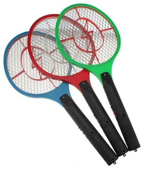 VDUASS Rechargable Electric Mosquito Fly Insect Killer Racket Bat ( Assorted Colour)