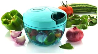 Vegetable Chopper, Cutter Set with Storage Lid for Kitchen, 3 Stainless Steel Blade (400 ml)