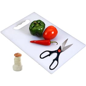 Vegetable Chopping Board With Scissor And Kitchen Tool