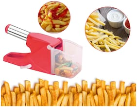 Vegetable Chipser French Fries & Finger Chips Cutter / Potato Chopper / Slicer With Container Made from Virgin Plastic Choppe