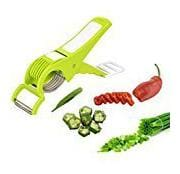 Vegetable Cutter, Mirchi Cutter With Lock System, Peeler With Slicer(Color May Vary) Sold By Evershine Gifts And Household