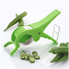 Kitchen4U 2 in 1 Vegetable Cutter with Peeling function ( Assorted Color)