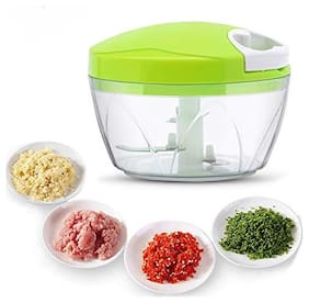 Vegetable & Fruits Chopper Cutter For Kitchen 3 Stainless Steel Blade (1Pc) Assorted Color