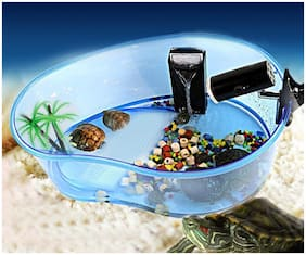 Venus Aqua Aquarium Turtle Tank Terrapin Habitat Turtle House For Turtle Reptile Frog Lizard Gecko With Platform Plants