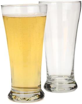 Verma 300 ml Transparent Water/Juice Glass Set-Q1